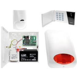 System alarmowy domku działkowego Płyta główna CA-4 VP Manipulator CA-4 VKLED 1x Czujka ruchu LC-100 Sygnalizator zewnętrzny