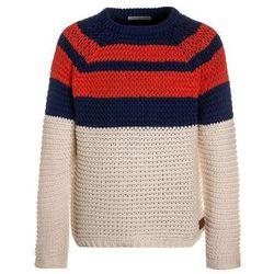 Scotch Shrunk STRIPED CREWNECK Sweter blue