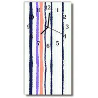 Farby, Zegar Szklany Pionowy Sztuka Pas linie farba kolorowy