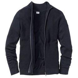 Sweter rozpinany z bawełny z recyclingu Regular Fit bonprix ciemnoniebieski