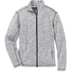 Bluza rozpinana melanżowa z polaru Regular Fit bonprix jasnoszary melanż