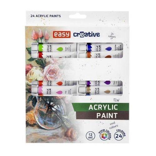 Farbki, Farba akrylowa 24 kolory EASY