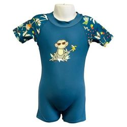 Strój kąpielowy kombinezon dzieci 92cm filtr UV50+ - Petrol Jungle \ 92cm