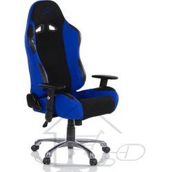 Fotel kubełkowy dla gracza, niebieski