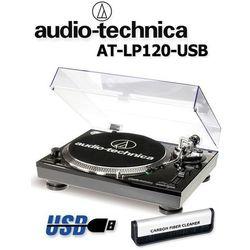 Gramofon stereofoniczny Audio-Technica AT-LP120USBHC + szczotka Analogis Brush 1