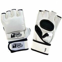 Rękawice MMA Gloves Profilfight PU białe GEL r. M