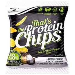 Chipsy proteinowe SPORT DEFINITION That's The Protein Chips 25g, Smaki: Cheese-onion Najlepszy produkt Najlepszy produkt tylko u nas!