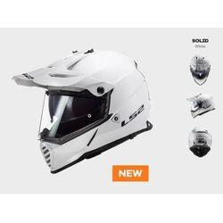 KASK MOTOCYKLOWY LS2 MX436 PIONEER EVO GLOSS WHITE nowość 2020 roku!