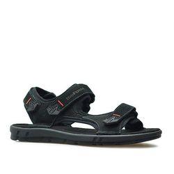 Sandały Nik 06-0351-02 Czarne nubuk