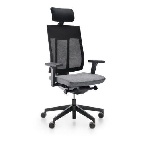 Fotele i krzesła biurowe, Fotel Xenon Net 111 SFL NX10 szary bez podłokietników