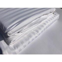 Poszewka Hotelowa OPTIMAL 70x80cm deseń 1 cm pasy biel 100 % Bawełna