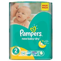 Pieluchy PAMPERS Act. Baby-Dry 2 mini 3-6kg, 76szt - 4015400735878