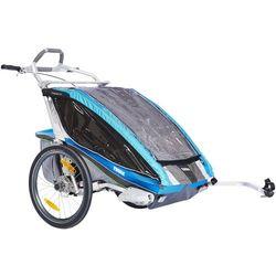 Thule Chariot CX2 + Zestaw do roweru Przyczepka rowerowa niebieski 2017 Przyczepki rowerowe dla dzieci