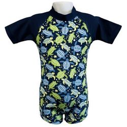 Strój kąpielowy kombinezon dzieci 84cm filtr UV50+ - Turtle Print \ 84cm