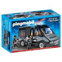 Klocki dla dzieci, Playmobil, Samochód brygady policyjnej ze światłem i dźwiękiem, 6043 wyprzedaż