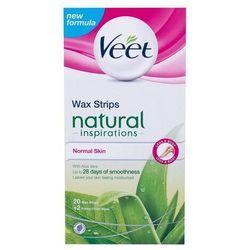 Veet Natural Inspirations Wax Strips Normal Skin akcesoria do depilacji 20 szt dla kobiet