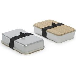 Pudełko na kanapki Sandwich On Board srebrno-szare