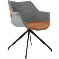 Fotele, Zuiver Fotel DOULTON VINTAGE brązowy 1200119