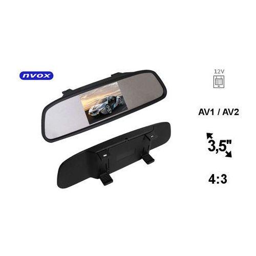"""Pozostałe car audio-video, NVOX NW350M Monitor samochodowy cofania LCD 3"""" cale w lusterku wstecznym AV 12V"""