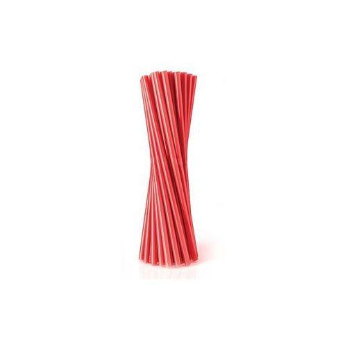Pozostałe wyposażenie domu, Słomki - rurki czerwone proste - 24 cm - 500 szt. - Czerwony