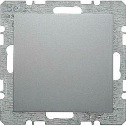 Berker/B.1/B.3/B.7 Glas Zaślepka z elementem centralnym aluminium 10091404 HAGER POLO