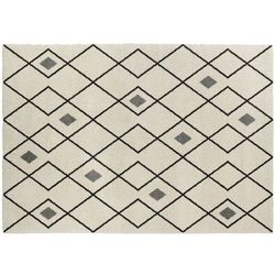 Dywan w stylu berberyjskim DURANGO — polipropylen — 160 × 230 cm — ecru