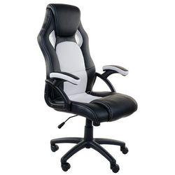 Fotel biurowy GIOSEDIO czarno-biały,model RCA002
