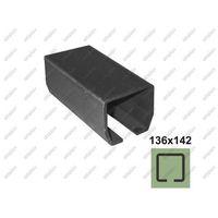 Przęsła i elementy ogrodzenia, Profil do bramy przesuwnej Fe, 136x142x6mm, L6m