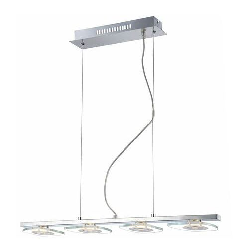 Lampy sufitowe, Nowoczesna LAMPA wisząca BILL P29385-1P Italux metalowa LISTWA LED 18W chrom przezroczysta