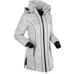 Płaszcz termoaktywny pikowany bonprix srebrny matowy