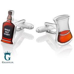 Spinki do mankietów Szklanka & Butelka Whisky KC-1097 Onyx-Art London