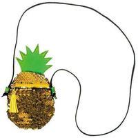 Torebki dziecięce, Pluszowa torebka na ramię Ananas
