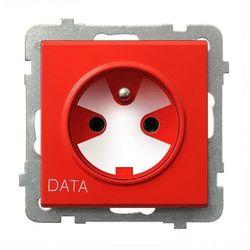 Gniazdo pojedyncze z uziemieniem DATA z kluczem uprawniającym - GP-1RZK/m/00 Sonata