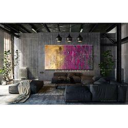 Duże obrazy nowoczesne - ręcznie malowane - fioletowo-zloty ambaras rabat 10%