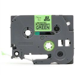 Taśma Brother TZe-D51 24mm x 5m fluorescencyjna zielona czarny nadruk - zamiennik | OSZCZĘDZAJ DO 80% - ZADZWOŃ!