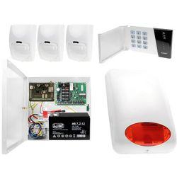 System alarmowy z GSM: Płyta główna CA-4 VP + Manipulator CA-4 VKLED + 3x Czujnik ruchu + Moduł GSM + Akcesoria