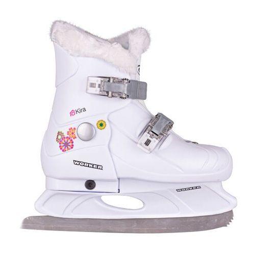 Łyżwy dla dzieci, Dziecięce łyżwy regulowane WORKER Kira - Rozmiar M (33-36)