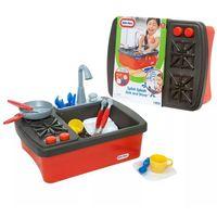 Kuchnie dla dzieci, LT Kuchnia i Zlewozmywak Zestaw 2w1 z Wodą Darmowa wysyłka i zwroty