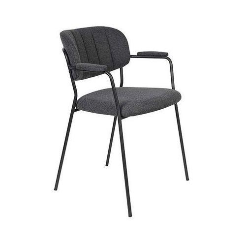 Fotele i krzesła biurowe, Orange Line Fotel JOLIEN ARM czarny/ciemno szary 3100125