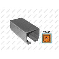 Przęsła i elementy ogrodzenia, Profil do bramy przesuwnej Zn, 70x60x3,5mm, L3m