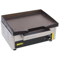 Grille gastronomiczne, Płyta grillowa elektryczna gładka nastawna | 280x385mm | 1800W