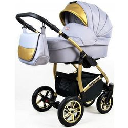 Sun Baby wózek 3w1 Raf-pol Gold LUX silver - BEZPŁATNY ODBIÓR: WROCŁAW!