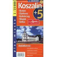 Mapy i atlasy turystyczne, Koszalin plus 5 1: 15 000 plan miasta (opr. broszurowa)
