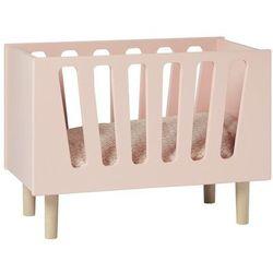 Łóżeczko dla lalek na drewnianych nóżkach Done by deer różowe