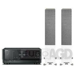 Yamaha MusicCast RX-V4A (czarny), Elac Debut Reference DFR52 (biały/orzech)