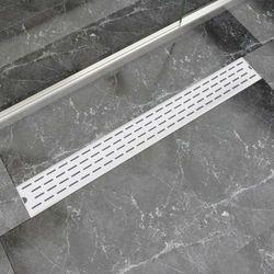 vidaXL Kratka odpływowa, liniowa, 930x140 mm, wzór linii, stal nierdzewna Darmowa wysyłka i zwroty