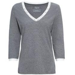 Shirt do spania z rękawami 3/4 bonprix szary melanż