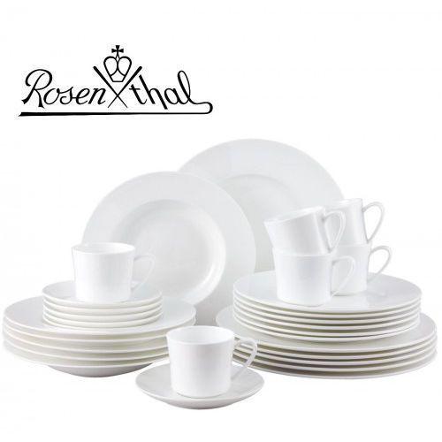 Serwisy obiadowe, ROSENTHAL JADE serwis obiadowo - kawowy 30el - biały, zestaw, porcelana premium fine bone