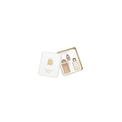 Zestawy zapachowe damskie, Chloe Love Story, zestaw perfumy EDP 75ml + balsam 100ml + EDP 7.5ml