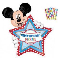 Balon foliowy Personalizowany Myszka Mickey - 60x76 cm - 1 szt.